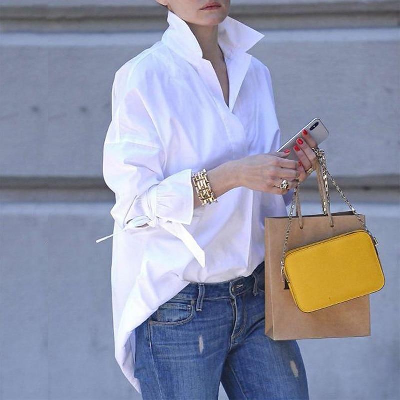 Spring Long Sleeve tops Women Casual shirt top Lapel Shirt 2020 fashion Plain Print Blouse Plus size