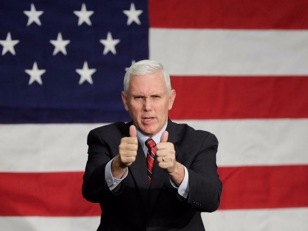 Vice President Mike Pence Glossy Poster Banner Donald Trump Usa White House Metal Sign 8x12inch Home Kitchen Bar Pub Ou