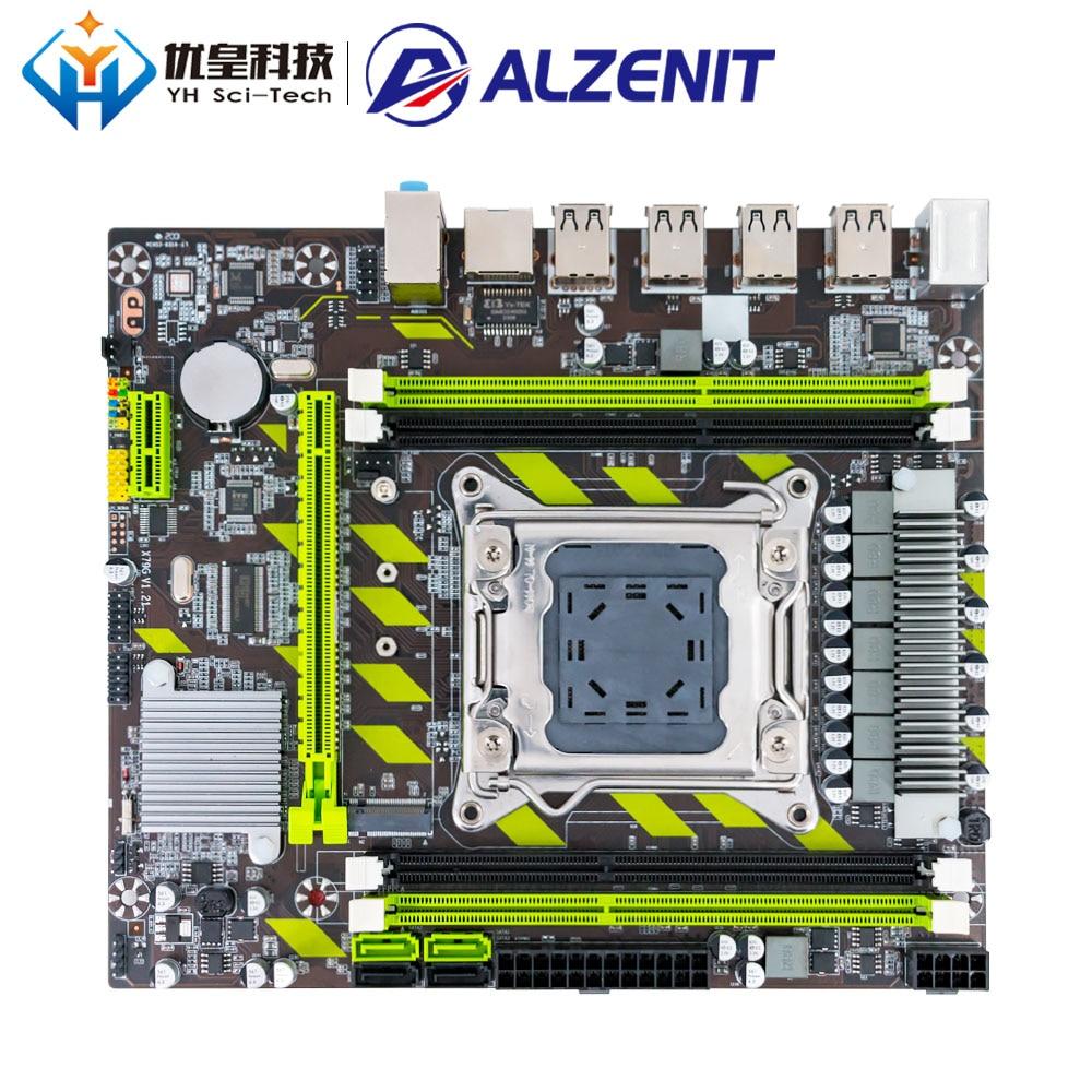 ALZENIT X79G Intel X79 New Motherboard LGA 2011 Xeon E5 RECC/Non-RECC DDR3 64GB M.2 NVME USB2.0 SATA3 M-ATX Server Mainboard