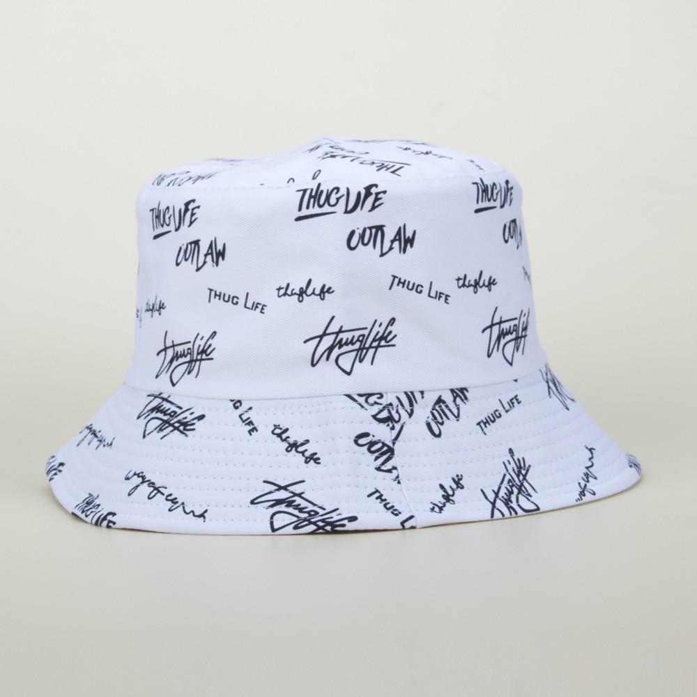 Women English Letters Bucket Hat  Reversible Sun Protection Double Side Cotton Cap Men's Panama Hat Fisherman Hats недорого