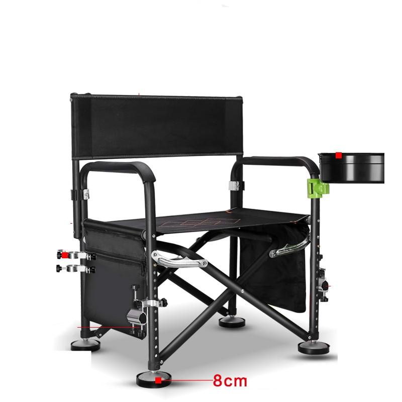 6 Hole Lifting Fishing Chair Multifunctional Outdoor Chair Foldable Table Fishing Chair Stool with Long Legs Wild Fishing Stool enlarge