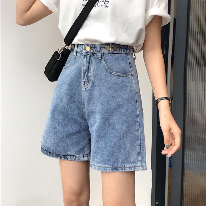 Jeans Shorts Women Summer All-match High Waist Short Denim Shorts New 2020 Fashion Korean Style Vintage Casual Shorts Woman P477