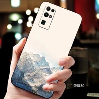 honor30 embossed vintage east asian chinese japanese style case for huawei honor 30 snow mountain decree crane cover