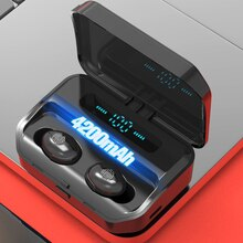 TWS 4200mAh Charging Case Bluetooth 5.0 Wireless Earphones Waterproof Sport Earbuds 9D Stereo Touch