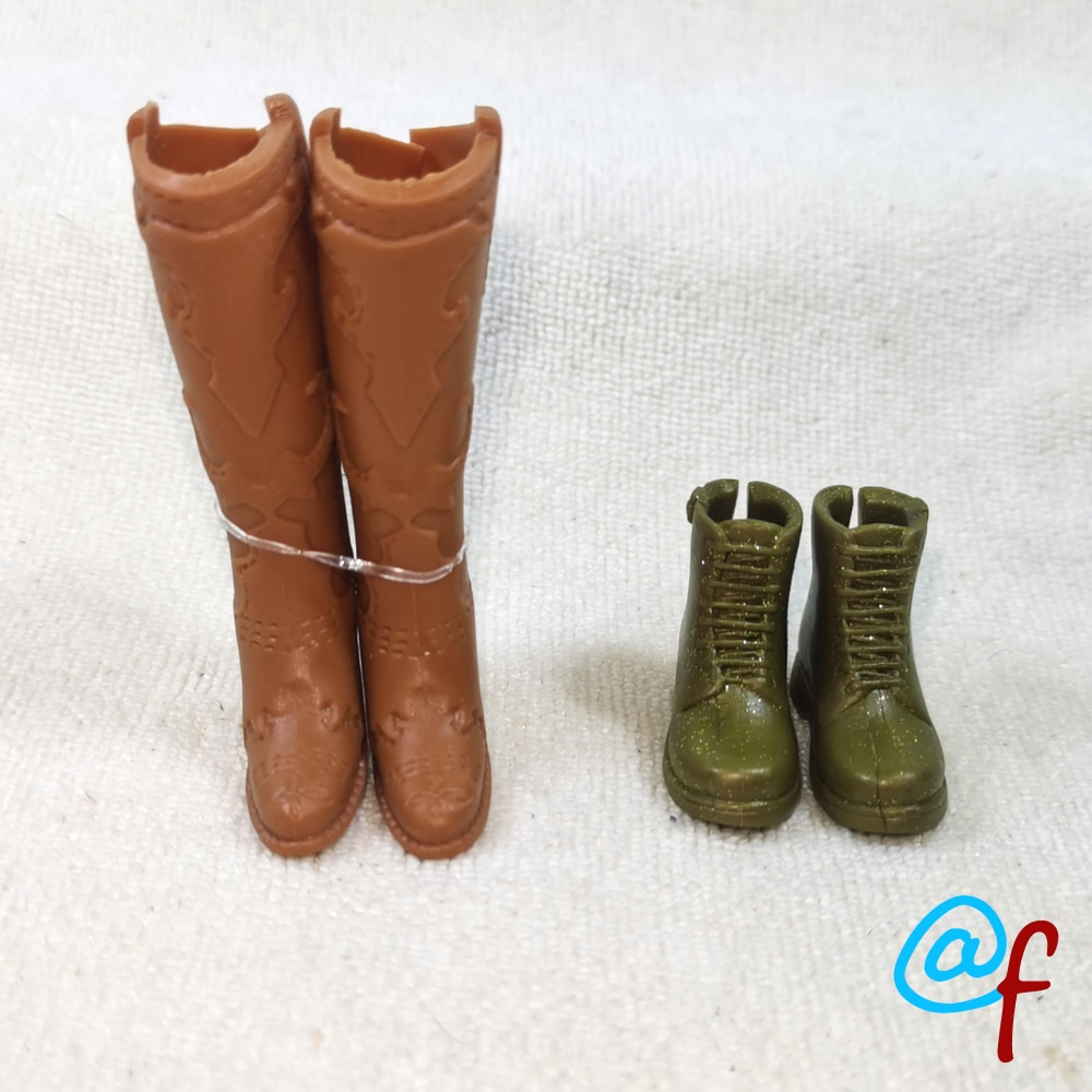 Boneca de salto alto sapatos ou botas original comércio exterior beleza 1/6 30cm ooak nude boneca acessórios