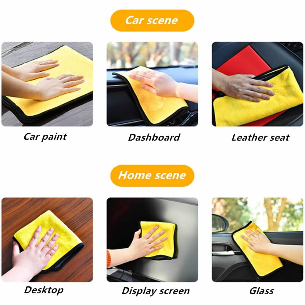Premium Microfiber Towels Car Drying Towels Softer and More Absorbent Lint-Free for Household Cleaning and Car Washing