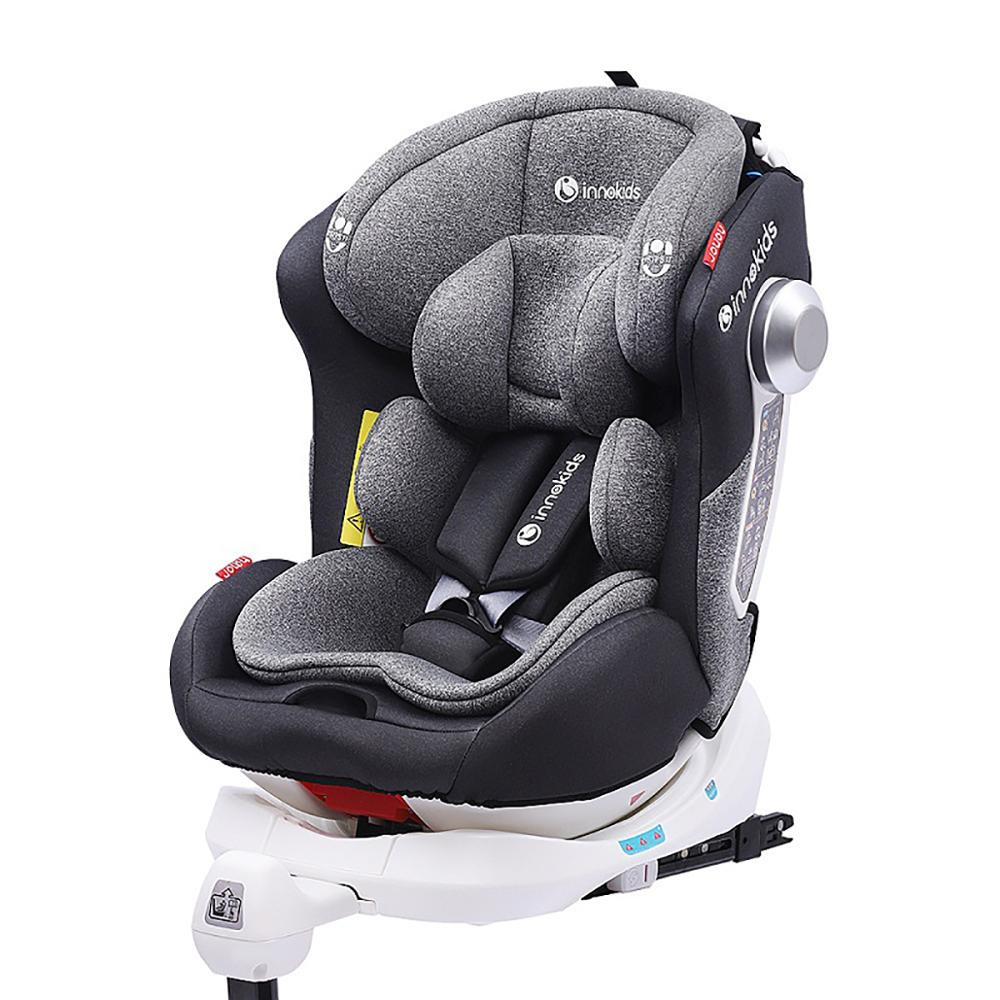 Hot Brand Child and Baby car seat 0-12 years portable 360 degree rotating seat ISOFIX interface gift for children
