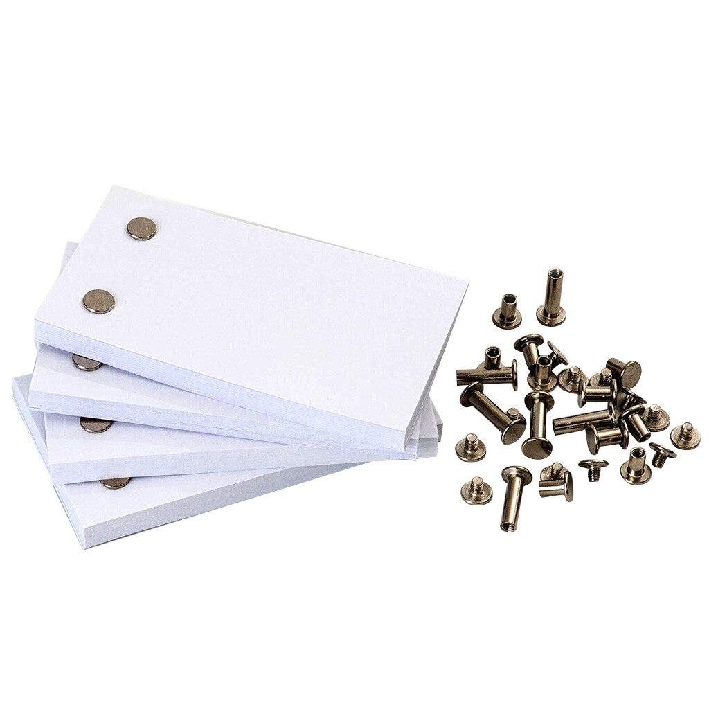 Papier à rabat blanc avec trous 240 feuilles papier danimation Flipbook enfants cadeau dapprentissage éducatif précoce pour enfants