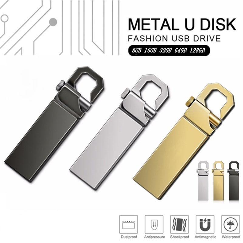 Pendrive 128GB 64GB impermeable pen drive 16GB 8GB de memoria usb flash...