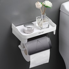 Creative Toilet Paper Roll Holder Shelf for Phone to Toilet Multi-function 3 Colors Phone Holder Stand Bathroom Accessories