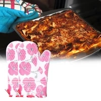 1 pair high quality non slip clear silicone baking mitts tear resistant kitchen mittens anti scalding for baking