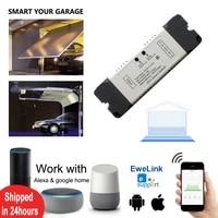 Scimagic     interrupteur WiFi intelligent  controleur douverture de porte de Garage  fonctionne avec Alexa Echo Google Home eWeLink  ne necessite pas de Hub