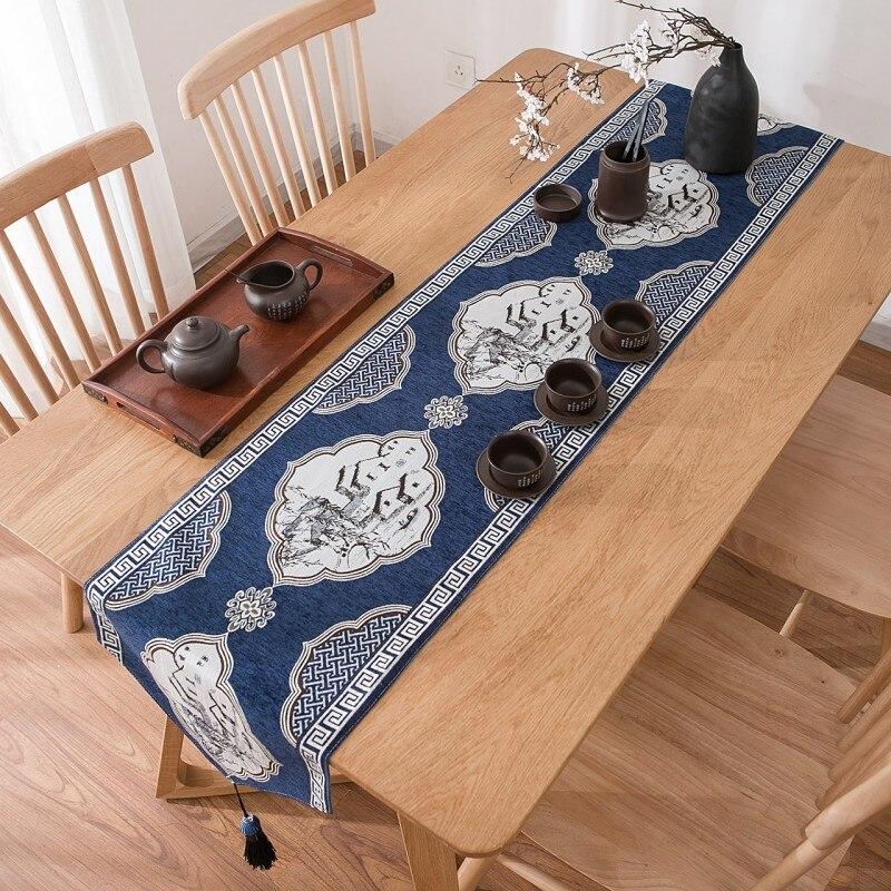 ذات الطابقين عادي القطن الكتان شرابة الجدول عداء الحبر الصين غطاء طاولة طعام الجدول عداء الجدول العلم لغرفة الطعام مضمد