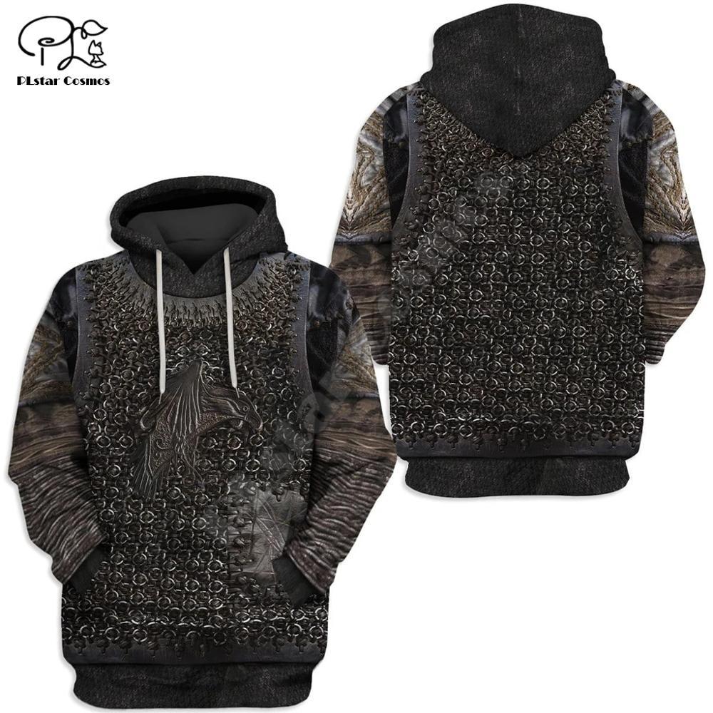 PLstar Cosmos Viking Warrior Tattoo Armor New Fashion Tracksuit Funny 3DPrint Pullover Unisex Zip/Hoodies/Sweatshirts/Jacket S17