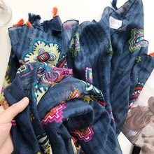 national style silk scarves  spring autumn thin yarn towel printing scarf women beach towel sun protection shawl wraps luxury