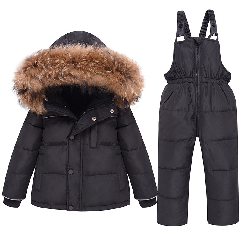 Kids Down Jackets Winter Warm Hooded Girls Coats Thick Solid Pink Toddler Warm Outerwear Coat Snowsuit Overcoat Kids Clothes enlarge