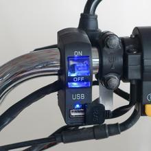 DC 12V LED Motorrad Lenker Mount USB Handy-ladegerät mit Schalter Motorcyle Zubehör Ersatzteile