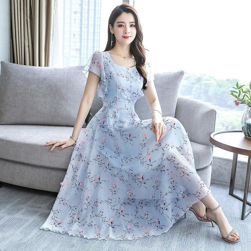 Mrs. Kuo Kleid Sommer Mädchen Edle 2019 Modische Kleid frauen Kleid Große Fett Mm Abdeckung Bauch Junge Mutter Sommer Kleid