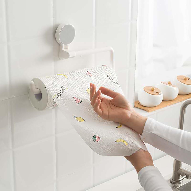 Contador de toallas de papel desechables de cocina-rollo enorme, papel de pañuelo limpio multiusos para el hogar (blanco)