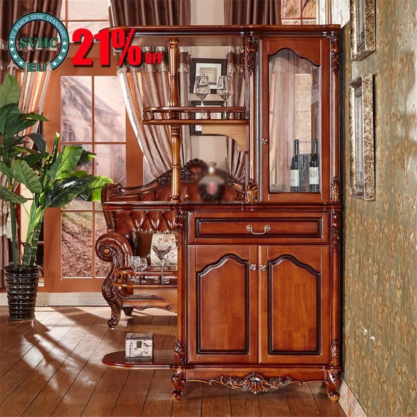 الأوروبي خشب متين غرفة المعيشة خزانة مشروبات الشرفة خزانة باب قاعة شاشة مطعم تخزين الوجهين خزانة مشروبات
