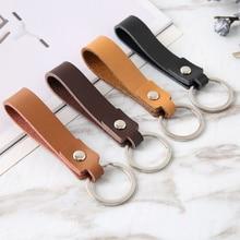 Fashion PU Leather Keychain Business Gift Leather Key Chain Men Women Car Key Strap Waist Wallet Key
