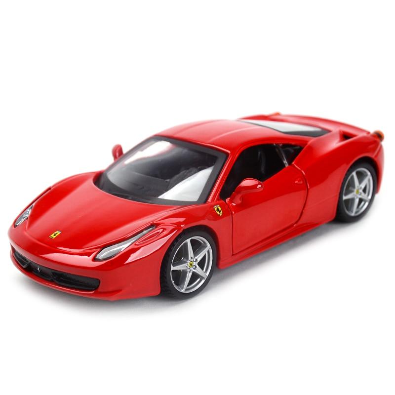 Фото - Bburago 1:32 458 Italia Sports Car Static Simulation Die Cast Vehicles Collectible Model Car Toys bburago 1 24 audi rs5 coupe sports car static die cast vehicles collectible model car toys