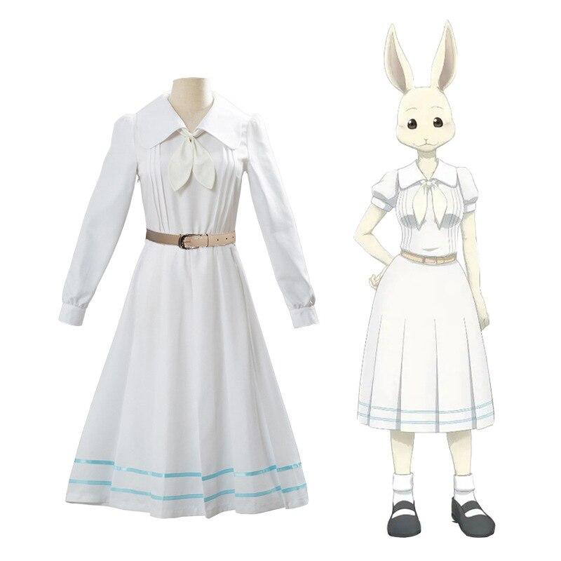 Anime Beastars Haru Cosplay Costume Lolita Haru Dress Skirt Women School Uniform White Rabbit Girls Japanese Uniform Outfit