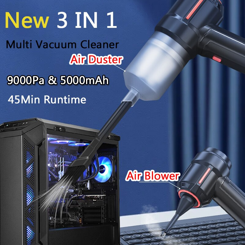 40000RPM اللاسلكي منظف بالهواء المضغوط منفاخ الهواء الكمبيوتر المحمول الصناعية الصف سيارة صغيرة مكنسة كهربائية لوحة المفاتيح كاميرا المنزل