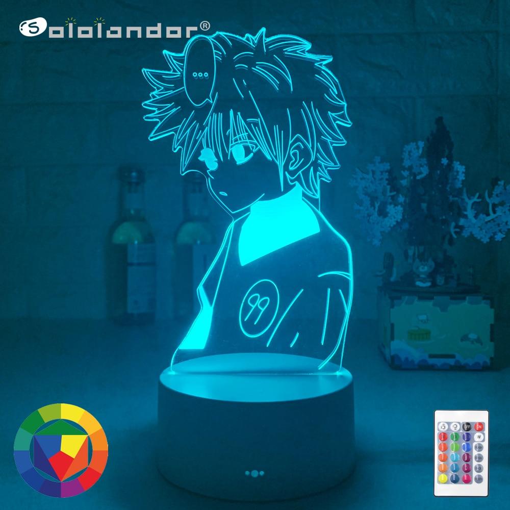 New Hunter X Anime Led Night Light Killua Zoldyck Figure Nightlight Color Changing Usb Battery Table 3d Lamp Gift Dropshipping