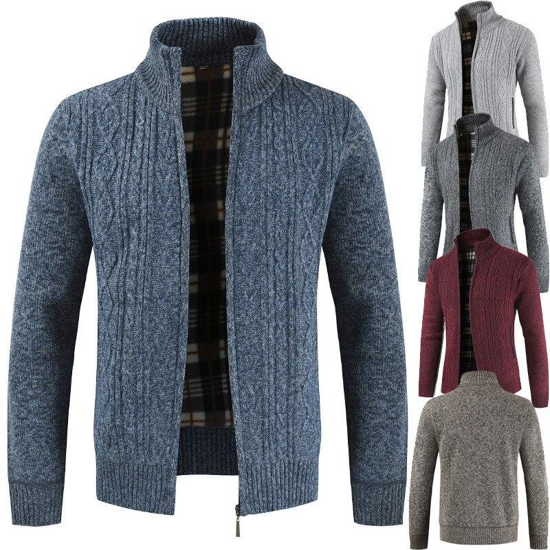 Новинка 2021, мужские свитера, осенне-зимние теплые кашемировые стандартные свитера, мужские повседневные свитера, свитера, пальто, мужская о...