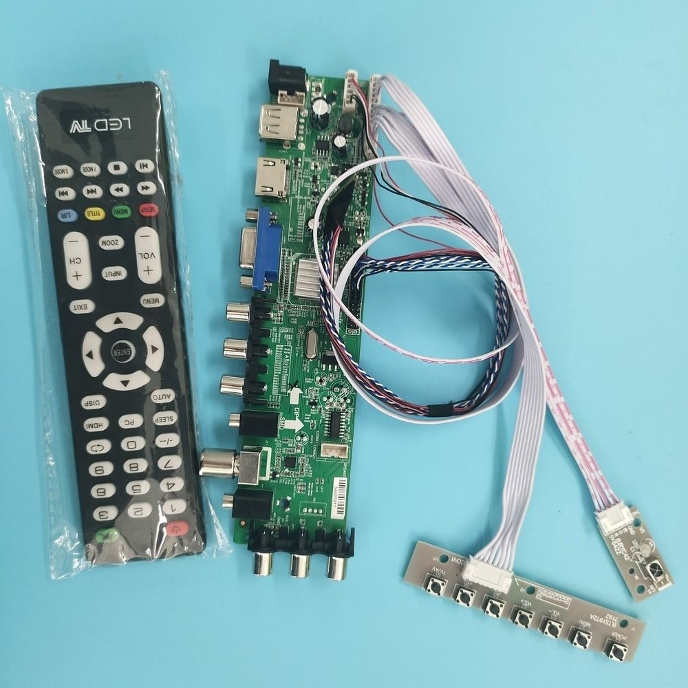 Kit de placa controladora digital LP125WH2-SLB1/LP125WH2-SLB3, 40 Pines, VGA LED, HDMI, mando a distancia DVB-T, 1366x768, señal WLED TV, LVDS, USB, AV