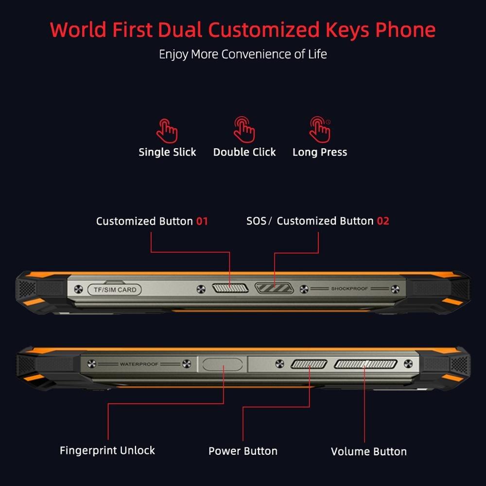 DOOGEE S88 Pro Rugged Mobile Phone 10000mAh Telephones IP68/IP69K Helio P70 Octa Core 6GB RAM 128GB ROM smartphone Android 10 OS enlarge