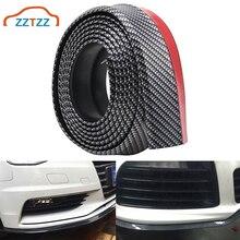 1 ensemble universel voiture avant arrière pare-chocs protecteur adhésif caoutchouc pare-chocs lèvre corps côté garniture Spoiler 2.5M/8.2ft
