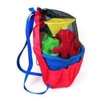 Sac de rangement Portable en maille pour bebe  sac a dos Portable pour jouets de plage  sac a filet pour vetements de sport  salle de bain  serviettes