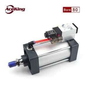 SCF standard cylinder with valve SCF80X25X50X100X150X200X500X1000 solenoid valve integrated cylinder - with magnetic plus 7.5$