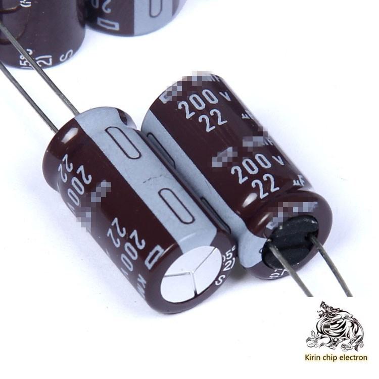 100 uF 200V 10 22 pçs/lote * 20 série KMF eletrolítico volume de capacitor 10x20mm 105 graus