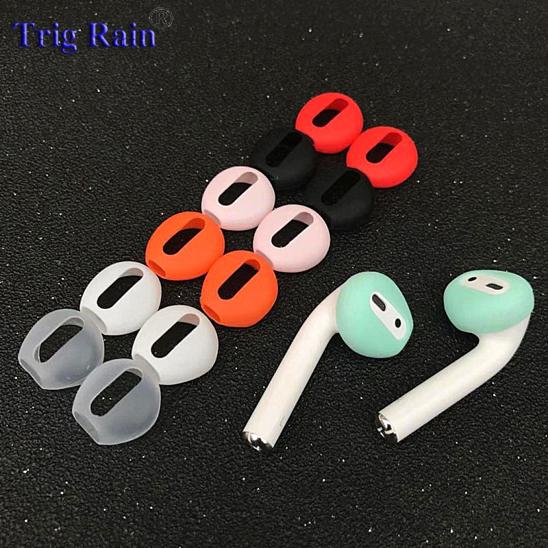 2pcs/pair Ear pads for Airpods Wireless Bluetooth for iphone 7 7plus earphones silicone ear caps earphone case earpads eartips