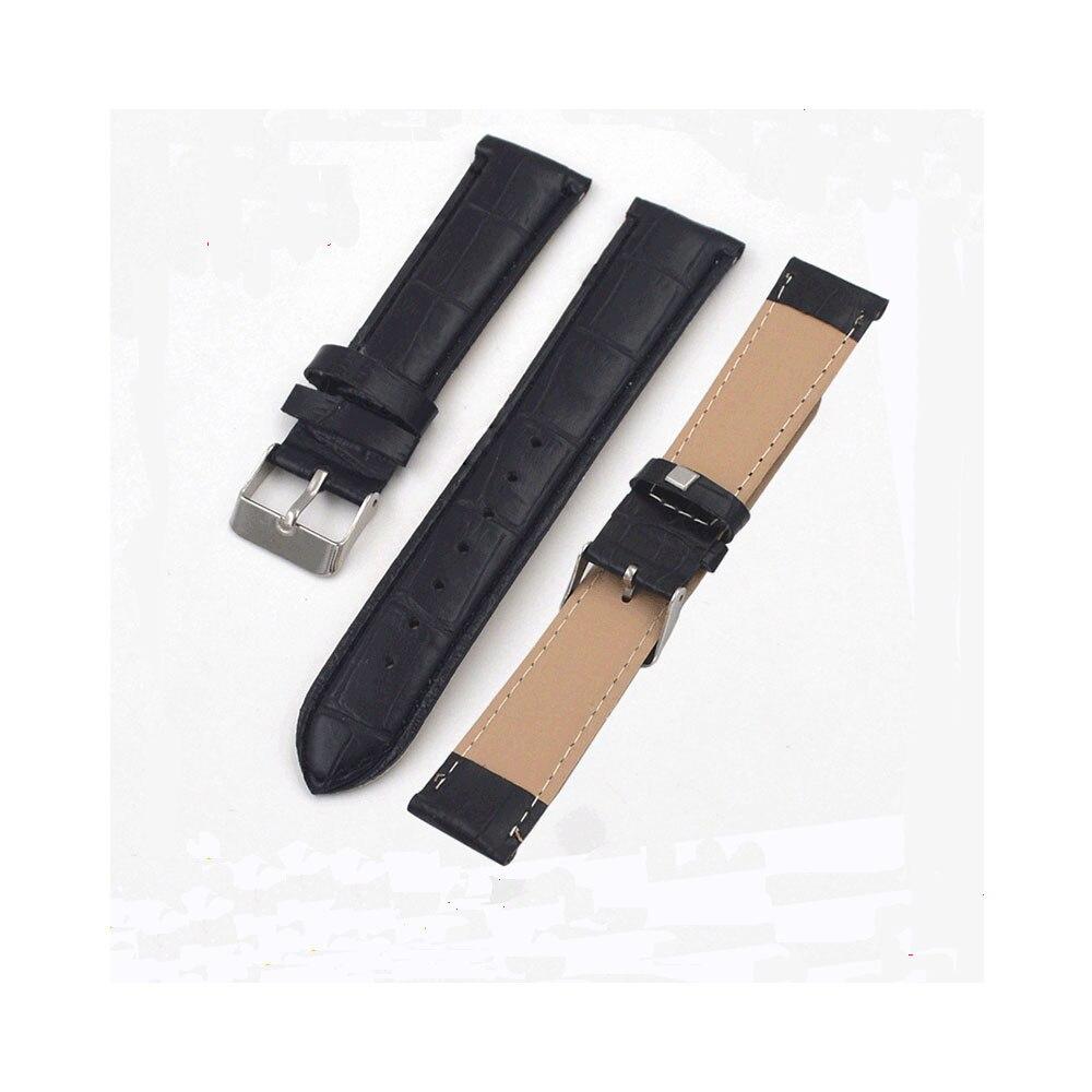 Correas de reloj de cuero genuino de 20mm, pulsera de alta calidad con hebilla y broche de acero para reloj Vintage