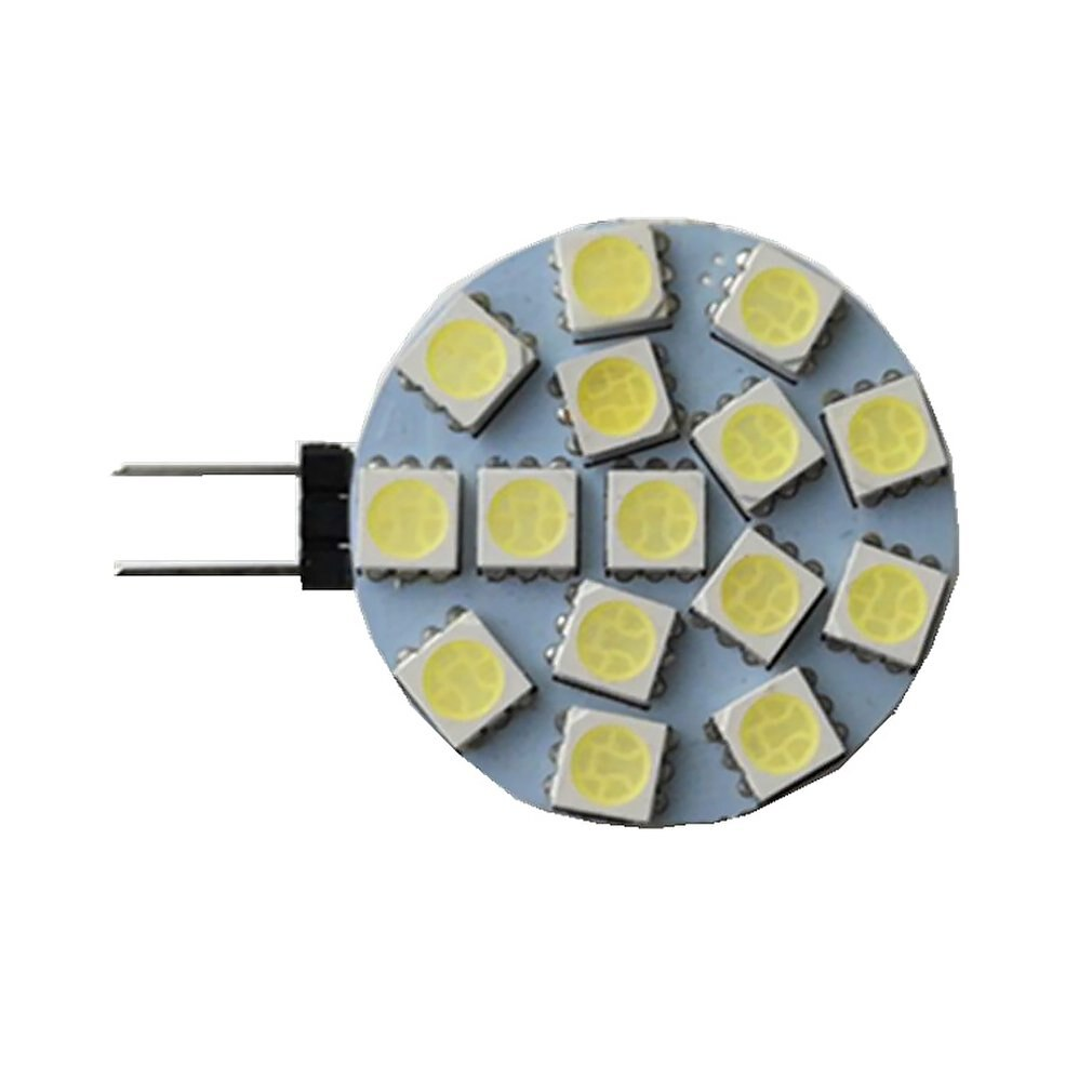 3 W Led bi-pin luces 140 Lm G4 Led cuentas Smd 5050 15 luces 9-30V blanco decorativo duradero lámpara brillante