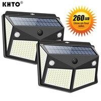 Уличный беспроводной светильник s с питанием от солнечной батареи и датчиком движения, светильник с водонепроницаемостью IP65 для сада, двора...