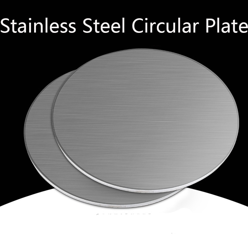 customized authentic 304 321 316 stainless steel col rolled bright thin foil tape strip sheet plate coil roll Thick 1mm 1.5mm 2mm 2.5mm 3mm Stainless Steel Circular Plate 304 Disc Plate Circular Flat-plate Round Disk Sheet