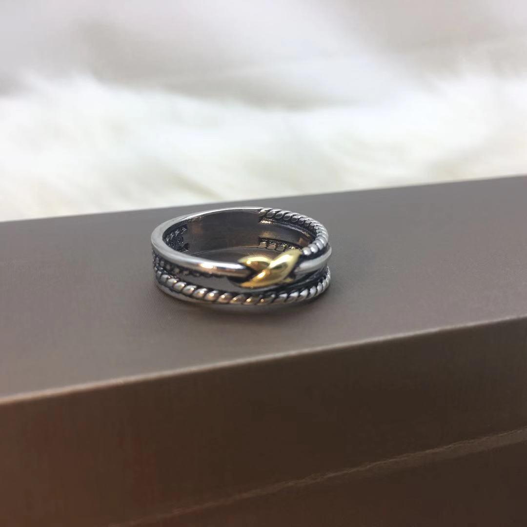 Anillo de joyería antiguo DR245, marca de moda, anillos de alambre de Cable multitrenzado, anillo de boda para mujer, joyería para mujer