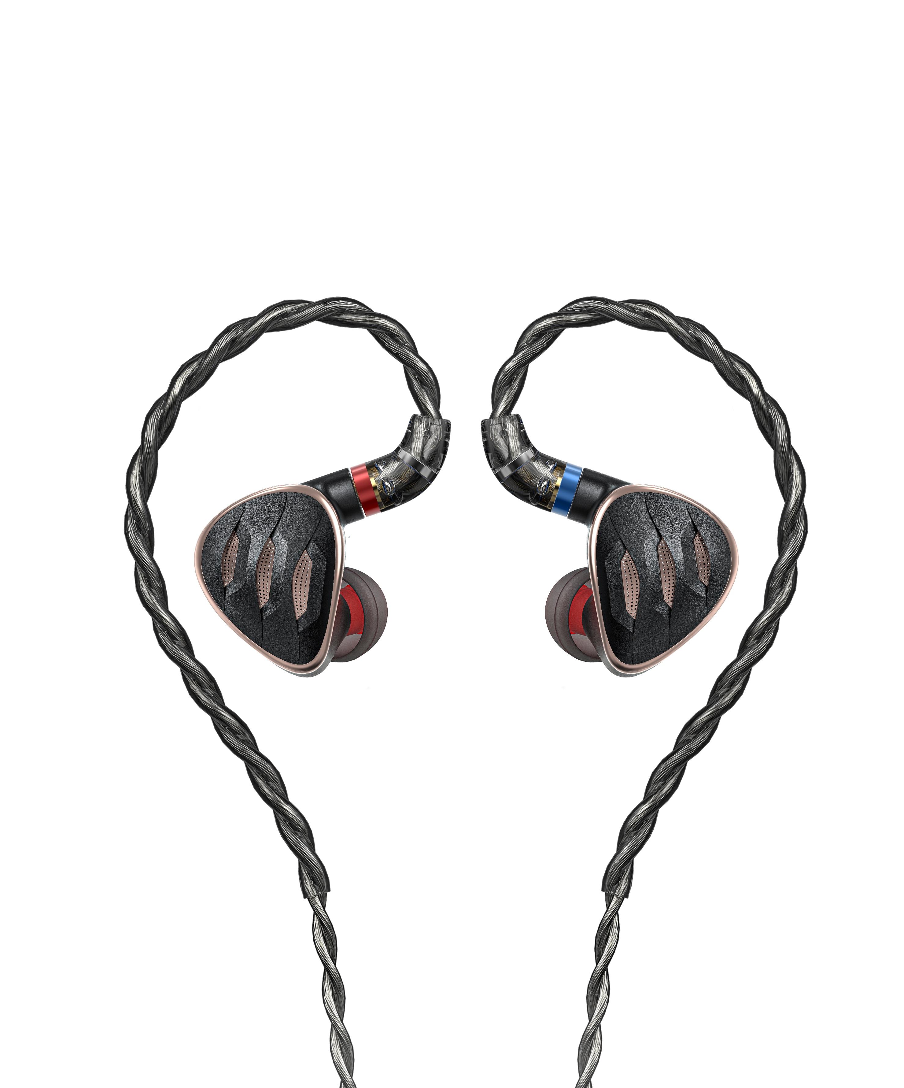 FiiO FH5s برو ستيريو HiFi سماعات أذن داخل الأذن السلكية سماعات IEM 2BA + 2DD مع 2.5/3.5/4.4 مللي متر التوصيل MMCX انفصال كابلات الموصلات