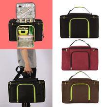 27L حقيبة للحفاظ على البرودة الحرارية الغداء المحمولة السفر نزهة صندوق معزول حقيبة ظهر باردة الجليد حزمة الطازجة الناقل الحراري حقيبة كتف كبيرة
