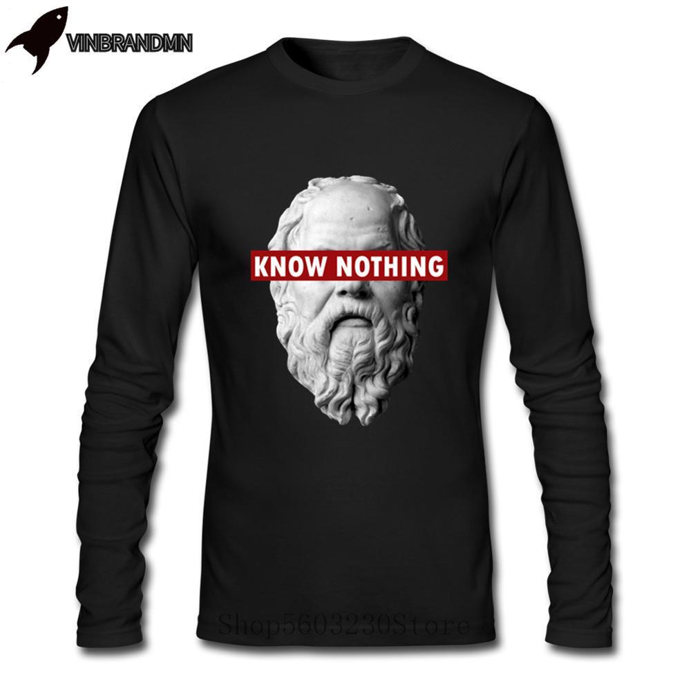 Мужские футболки с принтом «Alfa KNOW NOTHING SOCRATES-Philosophy», футболки с принтом «Romeo Juego De Tronos»