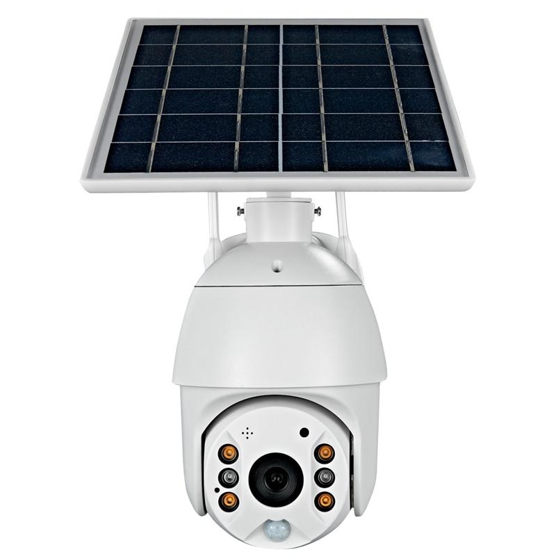 كاميرا ذكية Ptz S10 مع تنبيه شمسي ، 1080 بكسل ، رؤية ليلية ، واي فاي ، تخزين سحابي ، اتجاهين ، مناسب للاستخدام في الهواء الطلق والمكتب