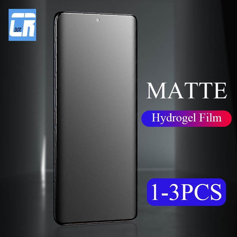 1-3PCS Nenhuma Impressão Digital Matte Filme de Hidrogel para Samsung Galaxy S20 Plus S10e A11 A31 A41 A51 A71 A81 A91 M21 M31 Protetor de Tela