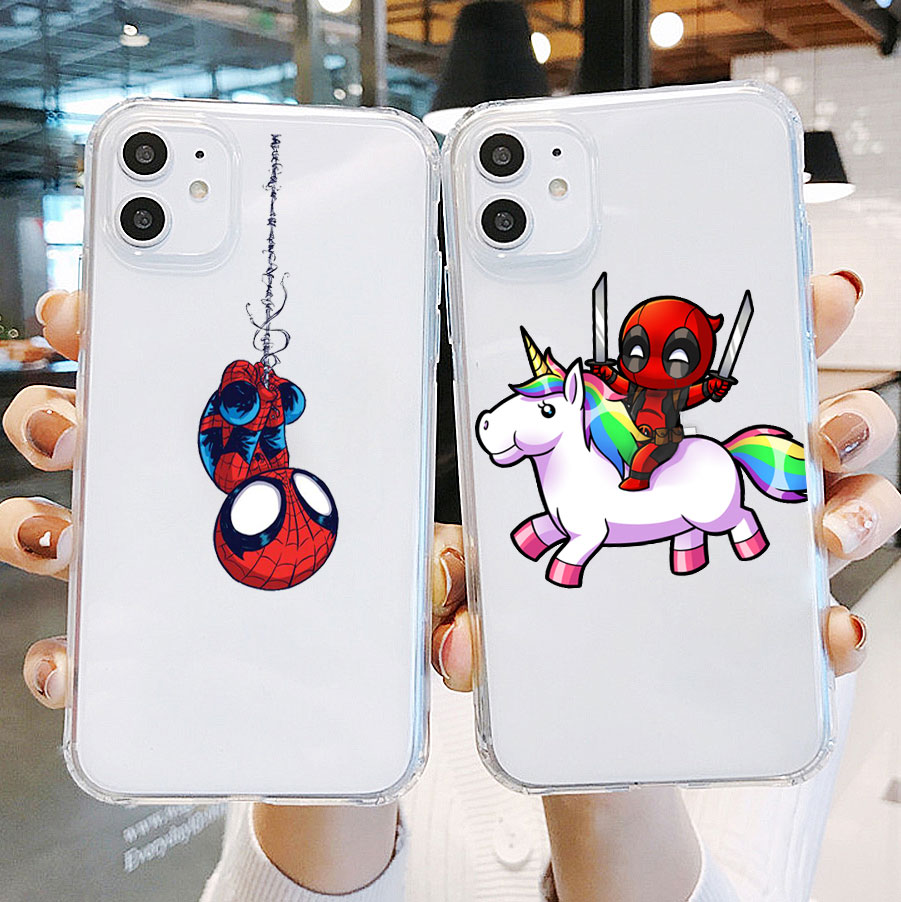 Дэдпул Чиби Бэтмен Аниме Чехол для iphone 11 pro max 7 6s 8 Plus 5s X XS MAX XR TPU силиконовый чехол для iphone 12 pro max