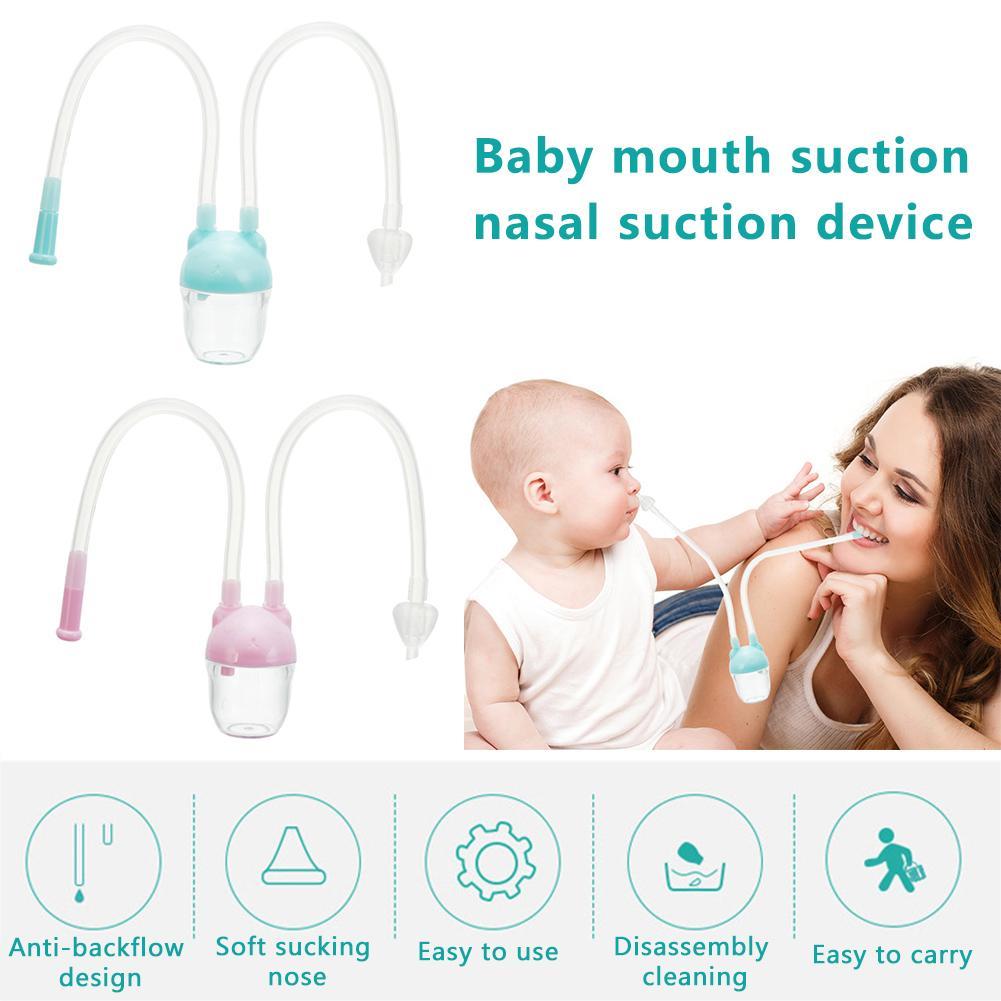 Bebé aspirador Nasal Dispositivo de succión de la boca del dispositivo de succión de la Nariz limpia para prevenir el reflujo aspirador de cuidado infantil