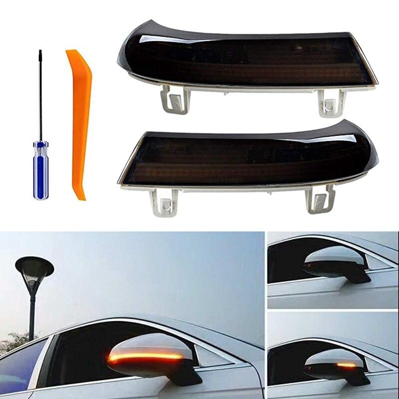 Car LED Dynamic Turn Signal Light Rearview Side Mirror Light Flowing Led Indicator Blinker For-VW Passat B5 Golf 5 MK5